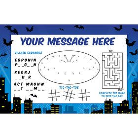 Bat Personalized Activity Mat (Each)
