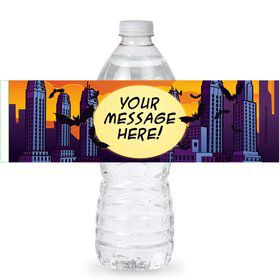 Bat Personalized Bottle Labels (Sheet of 4)