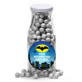 Bat Personalized Glass Milk Bottles (12 Count)