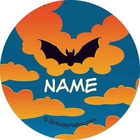 Bat Personalized Mini Stickers (Sheet of 20)