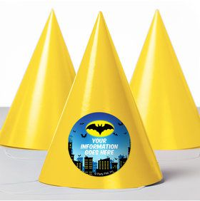 Bat Personalized Party Hats (8 Count)