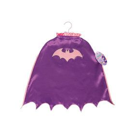 Batgirl Scalloped Cape with Glitter Logo For Kids