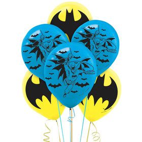 "Batman 12"" Latex Balloons (6 Pack)"