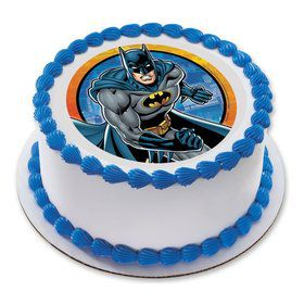 "Batman 7.5"" Round Edible Cake Topper (Each)"