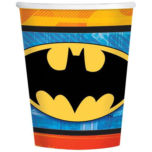 Batman 9Oz Cups (8 Pack) - Party Supplies BB581386