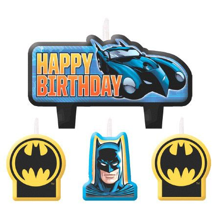 Batman Birthday Candle Set (4 Pack) - Party Supplies BB171386