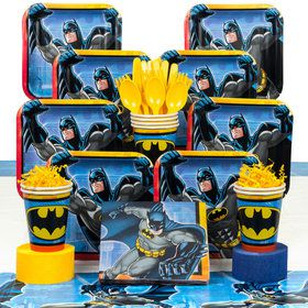 Batman Birthday Party Deluxe Tableware Kit Serves 8 & Lego Batman Ultimate Tableware Kit | Lego Batman party supplies from ...