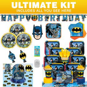 Batman Birthday Party Ultimate Tableware Kit Serves 8