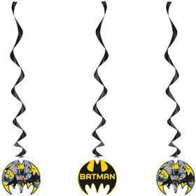Batman Hanging Swirl Decorations (3 Count)