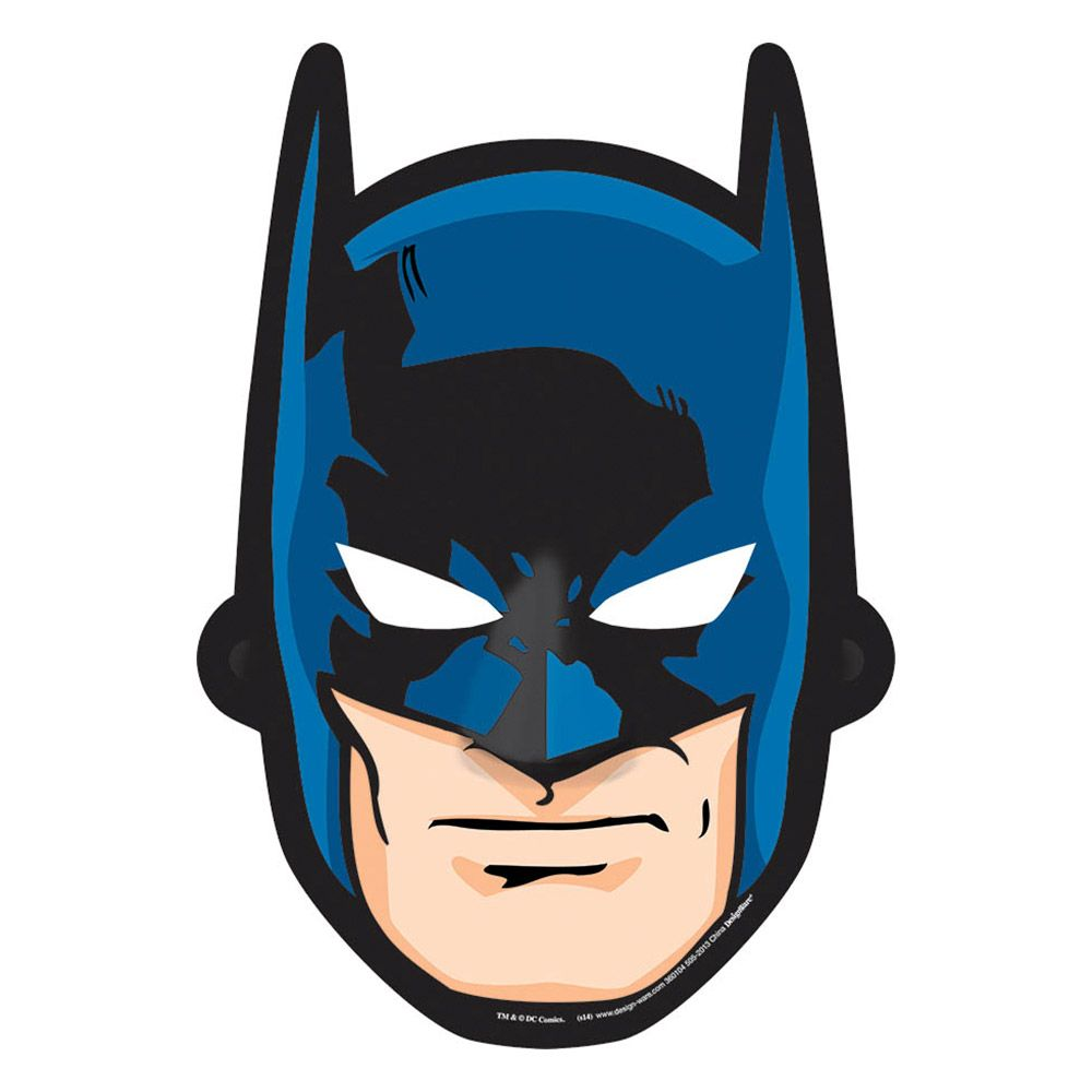 Batman Paper Masks (8 Pack) - Party Supplies BB360104