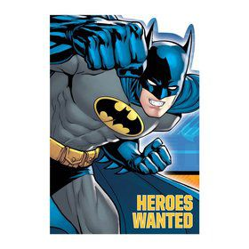 Batman Postcard Invitations (8 Pack)