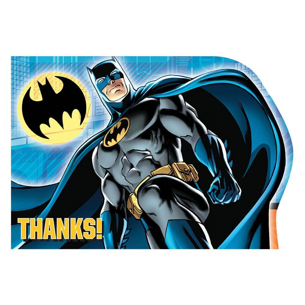 Batman Postcard Thank You Cards Thank You Notes Individual Party