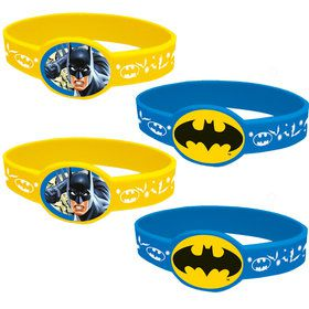 Batman Rubber Bracelet Favors (4 Count)