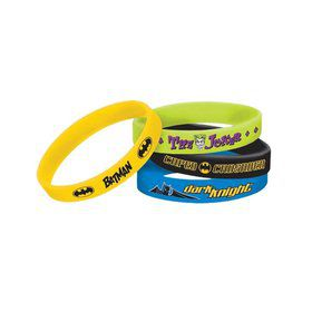 Batman Rubber Bracelet Favors (4 Pack)