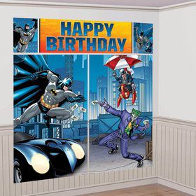 Batman Scene Setter Wall Decorating Kit (Each)