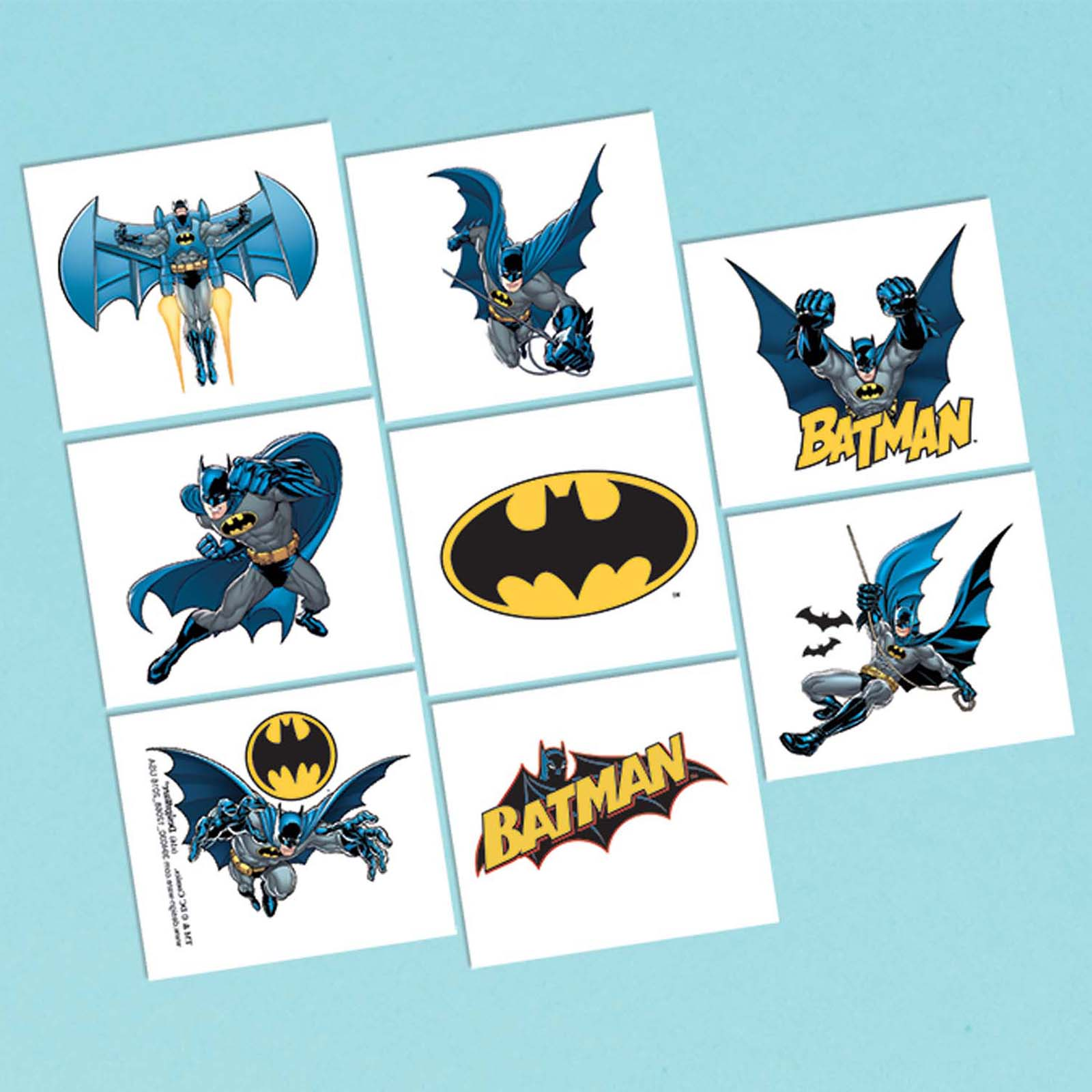 Batman Tattoo Favors (8 Pack) - Party Supplies BB394030