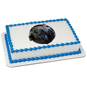 Batman v Superman Quarter Sheet Edible Cake Topper (Each)