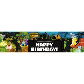 Battle Game Happy Birthday Banner (Each)