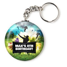 "Battle Game Personalized 2.25"" Key Chain (Each)"