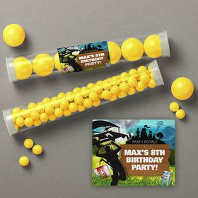 Battle Game Personalized Candy Tubes (12 Count)