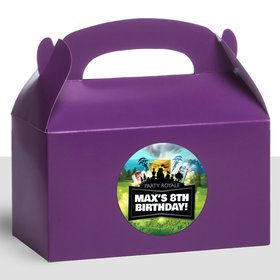 Battle Game Personalized Treat Favor Boxes (12 Count)