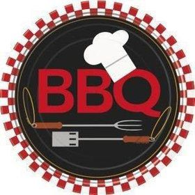 "BBQ 9"" Luncheon Plates (8 Pack)"