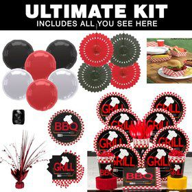 BBQ Party Ultimate Tableware Kit Serves 8