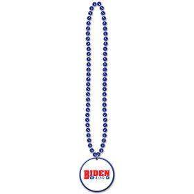 "Beads w/Democratic Candidate 33 "" Medallion"