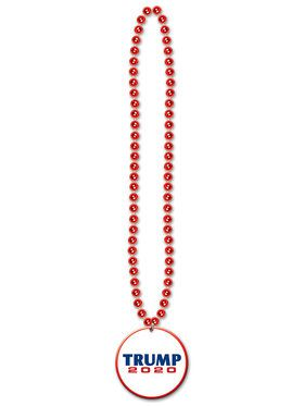 """Beads w/Republican Candidate 33 """" Medallion"""