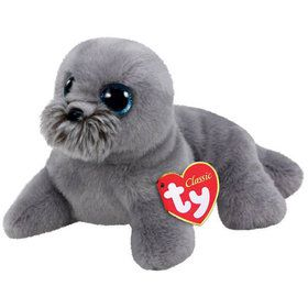 Beanie Classic Ty Wiggy Grey Sea Lion Plush (Medium)