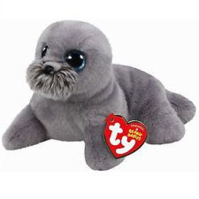 Beanie Classic Ty Wiggy Grey Sea Lion Plush