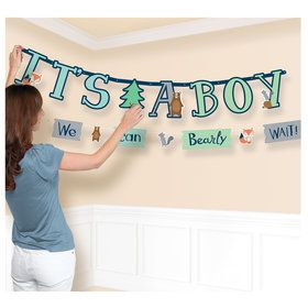 Bear-ly Wait Jumbo Letter Banner