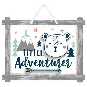 Bear-ly Wait Little Adventurer Sign