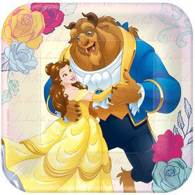 "Beauty and the Beast 7"" Cake Plates (8 Count)"