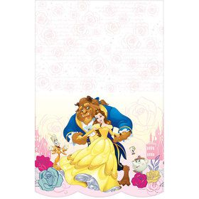 Beauty and the Beast Plastic Table Cover (Each)