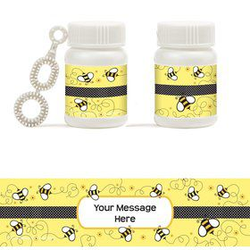 Bee Personalized Bubbles (18 Pack)