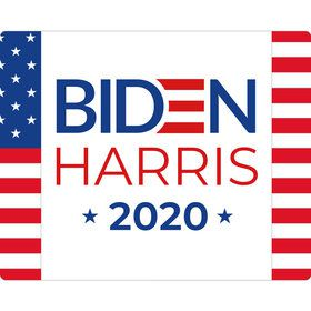 BIDEN HARRIS Stars and Stripes Rectangular Stickers (Sheet of 15)