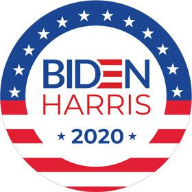 BIDEN HARRIS Stars and Stripes Stickers (Sheet of 12)
