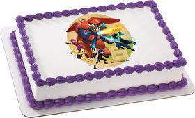 Big Hero 6 Quarter Sheet Edible Cake Topper (Each)