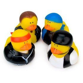 Biker Rubber Duck (12 pack)