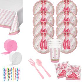 Birthday Ballerina Deluxe Tableware Kit (Serves 8)