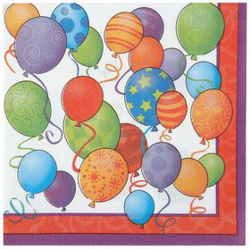 Birthday Balloons Napkins (16 Count)
