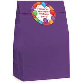 Birthday Balloons Personalized Favor Bag (Set Of 12)