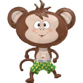 "Birthday Banana Monkey 41"" Balloon (each)"
