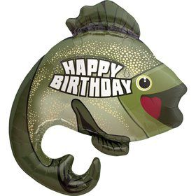 "Birthday Bass Fishing 32"" Balloon (each)"