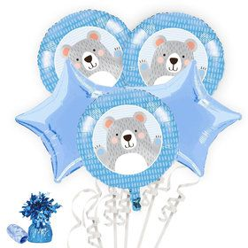 Birthday Bear Balloon Bouquet Kit