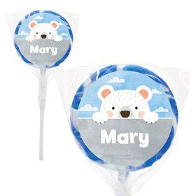 "Birthday Bear Personalized 2"" Lollipops (20 Pack)"
