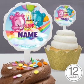Birthday Bears Personalized Cupcake Picks (12 Count)
