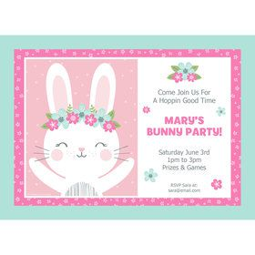 Birthday Bunny Personalized Invitation (Each)