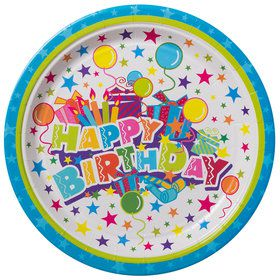 "Birthday Burst 9"" Luncheon Plates (8 Count)"